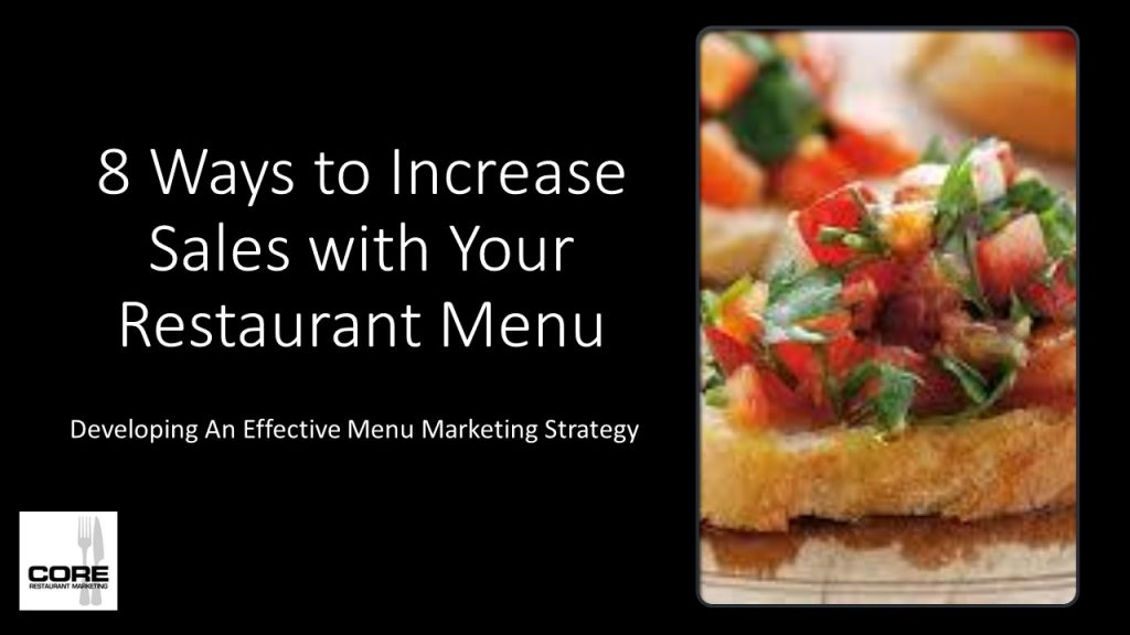 8 Ways To Increase Sales With Your Restaurant Menu